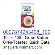 Walmart oats
