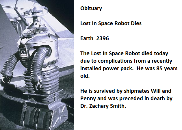 Lost in space obit